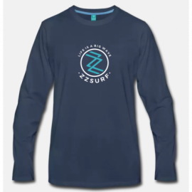 T-SHIRT LONG BLUE - ZZSURF