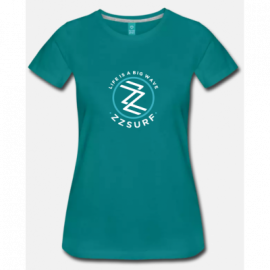T-SHIRT GREEN WOMAN - ZZSURF